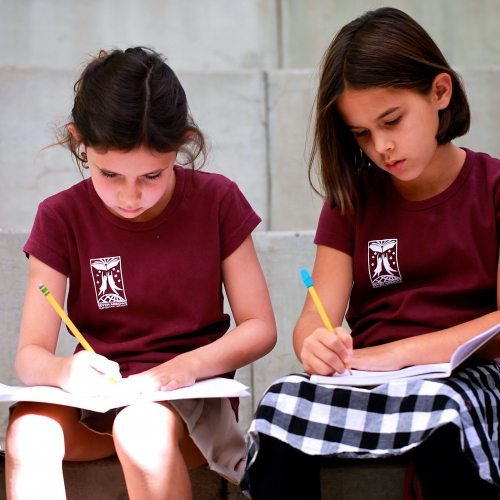 Seven Arrows Academic 1 - Two Little Girls Studying